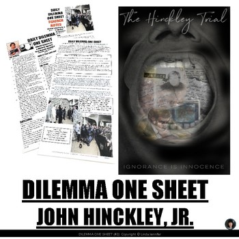 DAILY DILEMMA ONE SHEET (#3) (Ethics, Justice, Law)
