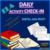 DAILY ELA ACTIVITY CHECK-IN WORKSHEET: Fosters organizational skills!