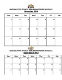 DAILY FIVE AND CAFE BI-MONTH CALENDAR