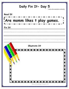 DAILY FIX-IT- UNIT 4 -READING STREET (2013 Edition) - FIRST Grade