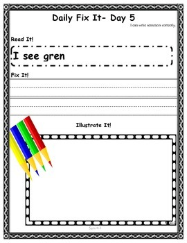 DAILY FIX-IT- UNIT R -READING STREET (2013 Edition) - FIRST Grade