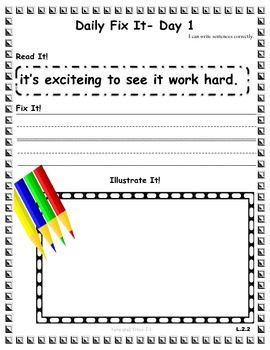 DAILY FIX-ITS - UNIT 2 - Reading Street (2013) Edition - 2nd Grade