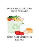 DAILY FOOD LOG AND FOOD PYRAMID