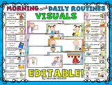 DAILY MORNING ROUTINE VISUAL SCHEDULE and daily routine vi