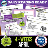 3rd Grade Daily Reading Spiral Review for April New ELA TEKS