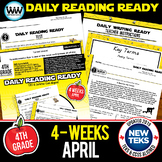 4th Grade Daily Reading Spiral Review for April New ELAR TEKS