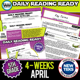 5th Grade Daily Reading Spiral Review for April {TEKS-Aligned}