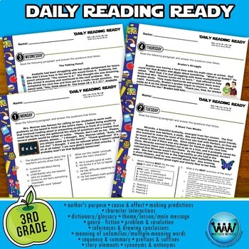 DAILY READING READY for August/September ~ 3rd Grade Daily Reading Review