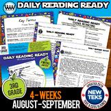 3rd Grade Daily Reading Spiral Review for August/September New ELA TEKS