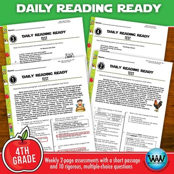 DAILY READING READY for August/September ~ 4th Grade Daily Reading Review