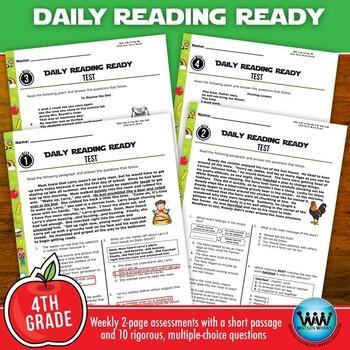 4th Grade Daily Reading Spiral Review for August/September New ELAR TEKS