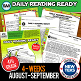 DAILY READING READY for August/September ~ 4th Grade Daily