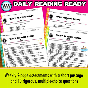 DAILY READING READY for August/September ~ 5th Grade Daily Reading Review