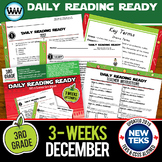 DAILY READING READY for December ~ 3rd Grade Daily Reading Review