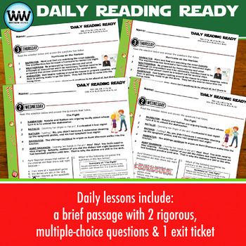 DAILY READING READY for December ~ 3rd Grade Daily Reading Review {TEKS-aligned}