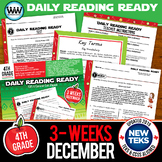 DAILY READING READY for December ~ 4th Grade Daily Reading Review {TEKS-aligned}