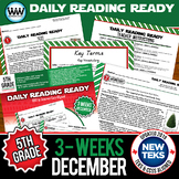 5th Grade Daily Reading Spiral Review for December {TEKS-Aligned}