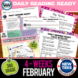 3rd Grade Daily Reading Spiral Review for February {TEKS-aligned}