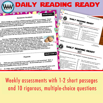 DAILY READING READY for February ~ 4th Grade Daily Reading Review {TEKS-aligned}