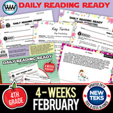 4th Grade Daily Reading Spiral Review for February {TEKS-aligned}