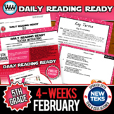 5th Grade Daily Reading Spiral Review for February {TEKS-Aligned}