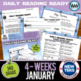 3rd Grade Daily Reading Spiral Review for January (TEKS-aligned}