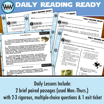 DAILY READING READY for January ~ 4th Grade Daily Reading Review {TEKS-aligned}