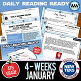 DAILY READING READY for January ~ 4th Grade Daily Reading