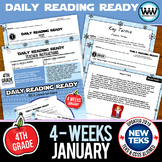 4th Grade Daily Reading Spiral Review for January {TEKS-aligned}