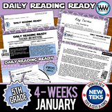 5th Grade Daily Reading Spiral Review for January {TEKS-Aligned}