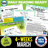 DAILY READING READY for March ~ 3rd Grade Daily Reading Review {TEKS-aligned}