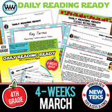 DAILY READING READY for March ~ 4th Grade Daily Reading Review {TEKS-aligned}