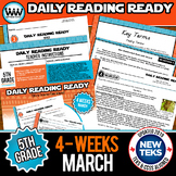 5th Grade Daily Reading Spiral Review for March {TEKS-Aligned}