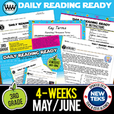 3rd Grade Daily Reading Spiral Review for May/June {TEKS-aligned}