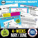 3rd Grade Daily Reading Spiral Review for May New ELA TEKS
