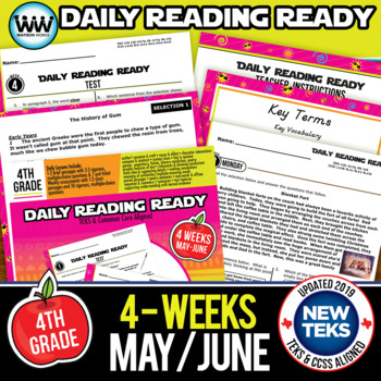 DAILY READING READY for May/June ~ 4th Grade Daily Reading Review {TEKS-aligned}