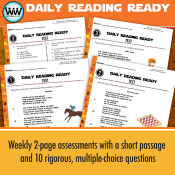 DAILY READING READY for November ~ 3rd Grade Daily Reading Review {TEKS-aligned}