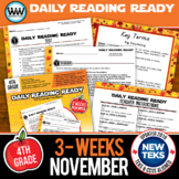 DAILY READING READY for November ~ 4th Grade Daily Reading