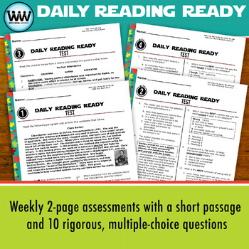 DAILY READING READY for October ~ 4th Grade Daily Reading Review {TEKS-aligned}