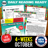 DAILY READING READY for October ~ 4th Grade Daily Reading