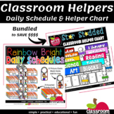 DAILY SCHEDULE CARDS AND HELPER CHART FOR THE CLASSROOM - BUNDLE