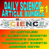 DAILY SCIENCE BUNDLE #1 (51 Articles / Questions / Keys /