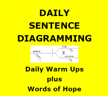 GRAMMAR: SENTENCE DIAGRAMMING UNIT:   Daily Warm Up and Words of Hope