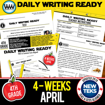 DAILY WRITING READY for April ~ 4th Grade Daily Language Review {TEKS-aligned}
