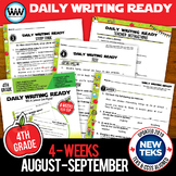 4th Grade Daily Language Review for August/September New ELA TEKS