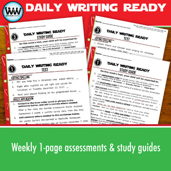 DAILY WRITING READY for December~ 4th Grade Daily Language Review {TEKS-aligned}