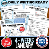DAILY WRITING READY for January ~ 4th Grade Daily Language
