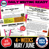 DAILY WRITING READY for May/June~ 4th Grade Daily Language Review {TEKS-aligned}