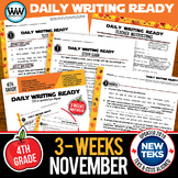 DAILY WRITING READY for November~ 4th Grade Daily Language Review {TEKS-aligned}
