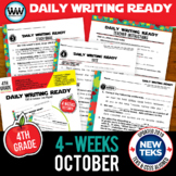 4th Grade Daily Language Review for October New ELA TEKS